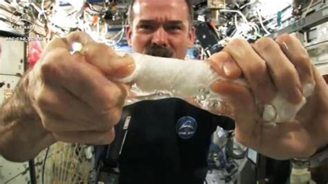 Watch Astronaut Chris Hadfield Wring Out Wet Towel In